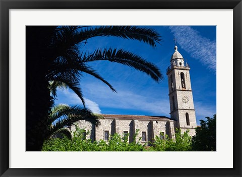 Framed France, Corsica, Sartene, Eglise Ste-Marie church Print
