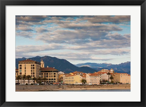 Framed Seaside City View of Corsica Print