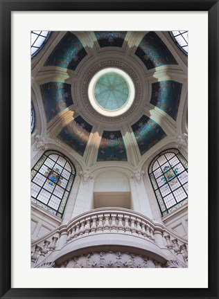 Framed Palais des Beaux-Arts ceiling detail, Lille, French Flanders, France Print