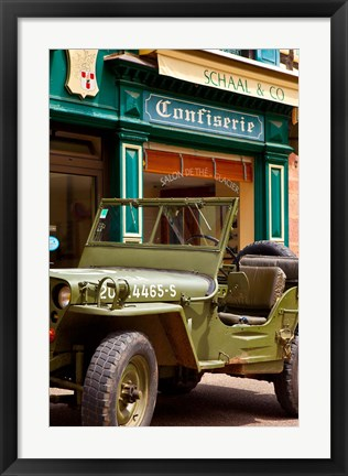 Framed World War II US Army Jeep, Ribeauville, France Print