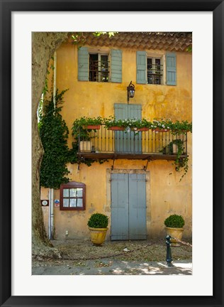 Framed Home in Cucuron, Provence, France Print
