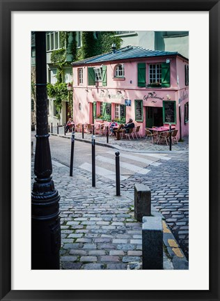 Framed Historic La Maison Rose Cafe in Montmartre Print