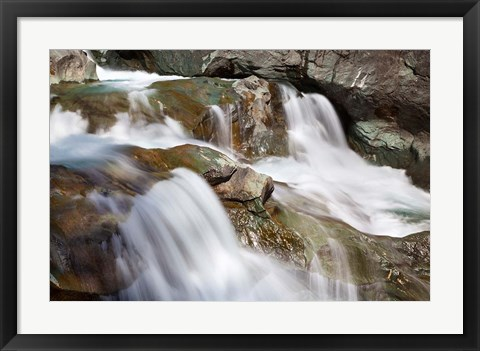 Framed River Isel, Hohe Tauern National Park Print
