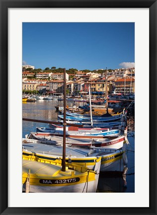 Framed Colorful Sailboats in Provence, France Print