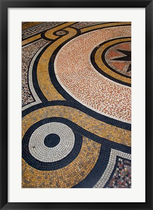 Framed Mosaic Floors inside Passage Vivienne Print