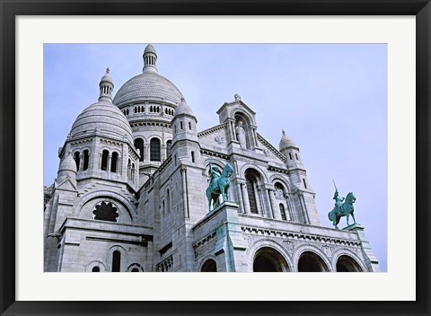 Framed Sacred Heart Cathedral in Montmartre, Paris Print