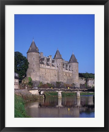 Framed Josselin Chateau and River Oust, Brittany, France Print