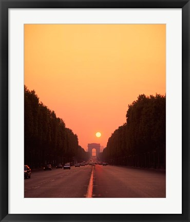 Framed Arc de Triomphe at Sunset, Paris, France Print