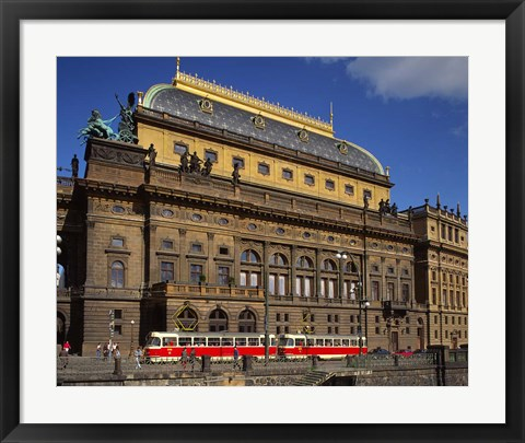 Framed National Theatre, Prague, Czech Republic Print