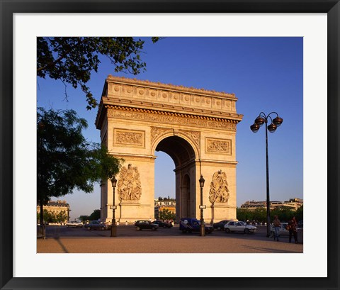 Framed Arc de Triomphe, Paris, France Print