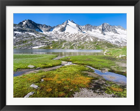 Framed Reichenspitz Mountains and Lake Gerlos Print
