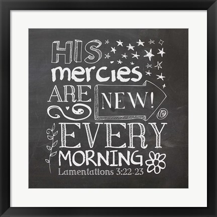 Framed His Mercies Are New Print
