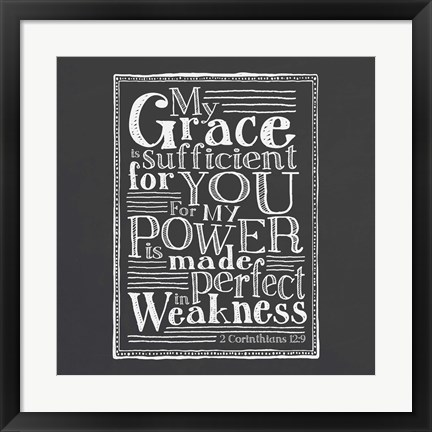 Framed My Grace Is Sufficient Print