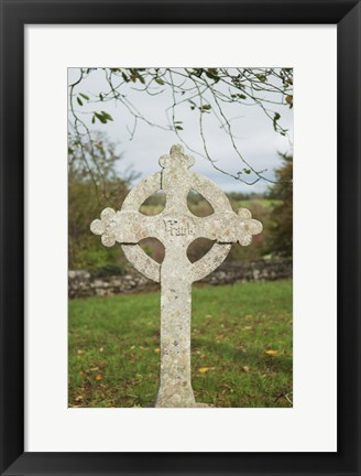 Framed Celtic Cross Print