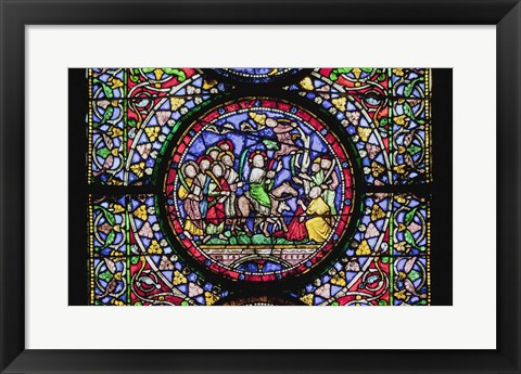 Framed Stained Glass III Print