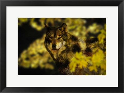 Framed Gold Shadows Print