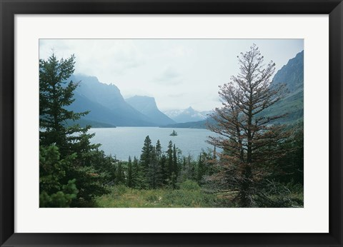 Framed Glacier National Park  Lake 14 Print