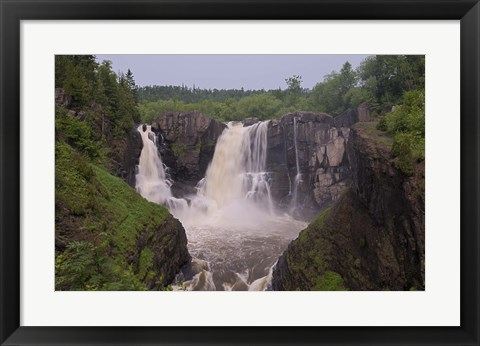 Framed North Shore Rocky Waterfalls I Print