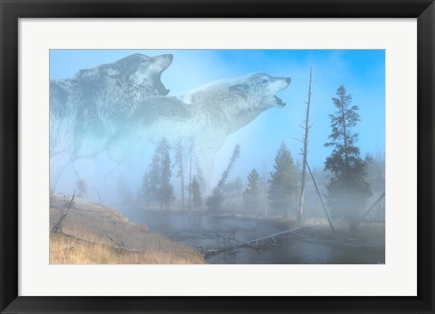 Framed Spirits Of Yellowstone Print