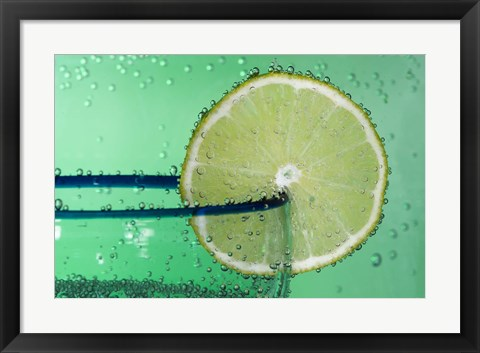 Framed Margarita Glass And Lemon Closeup I Print