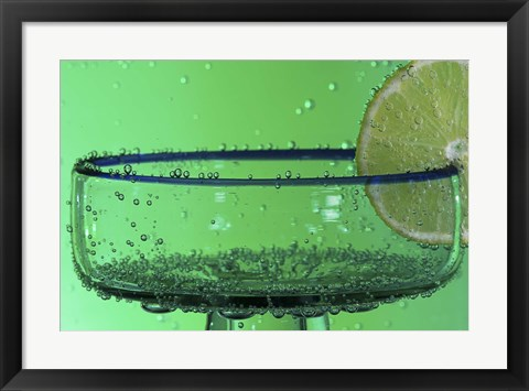 Framed Margarita Glass And Lemon Closeup II Print