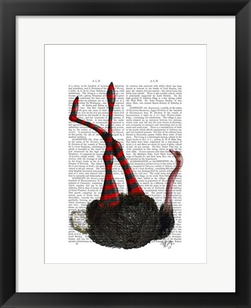Framed Ostrich with Striped Leggings Print