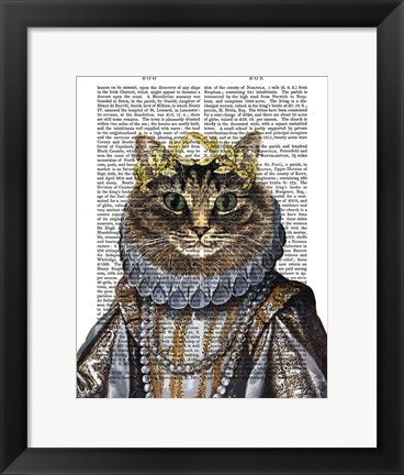 Framed Cat Queen Print