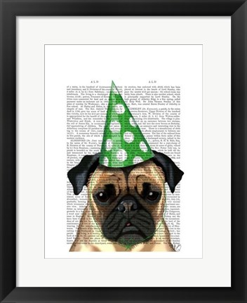 Framed Party Pug Print