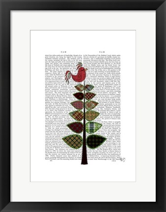 Framed Tartan Tree Illustration Print