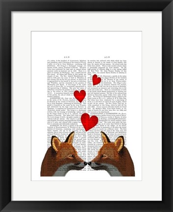 Framed Foxes in Love Print