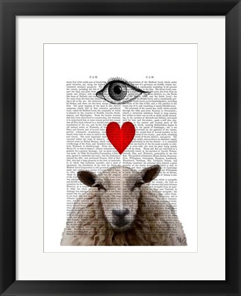 Framed I Heart Ewe Print