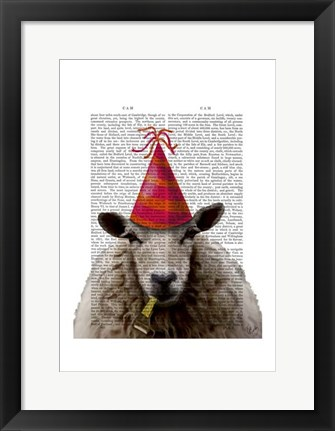 Framed Party Sheep Print