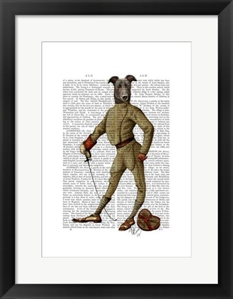Framed Greyhound Fencer Dark Full Print