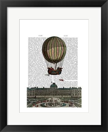 Framed Airship Over City Print