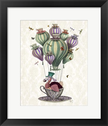 Framed Dodo Balloon with Dragonflies Print
