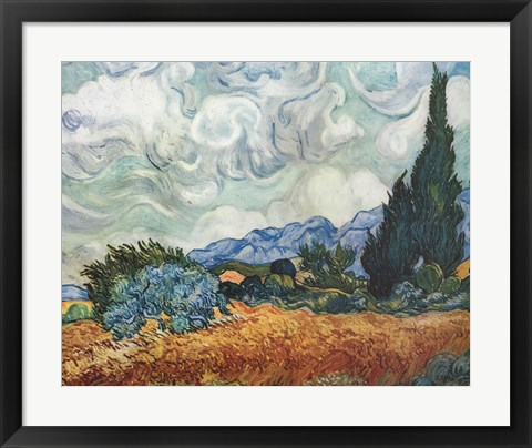 Framed Cypress Trees Print