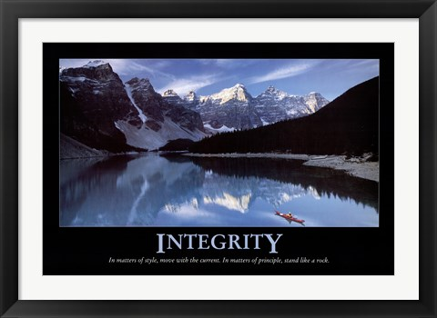 Framed Integrity Print