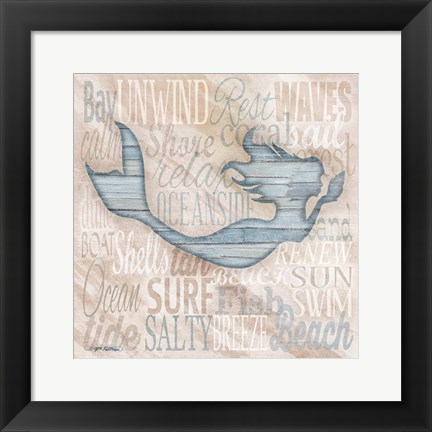 Framed Driftwood Beach Icons I Print