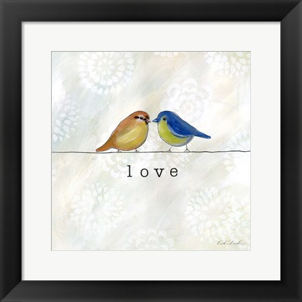 Framed Birds of a Feather Square II Print