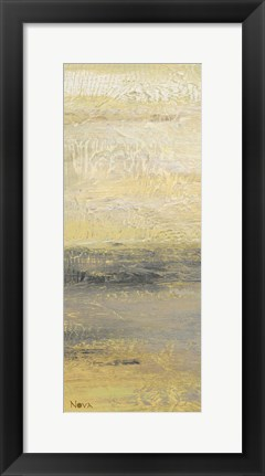 Framed Siena Abstract Yellow Gray Panel II Print