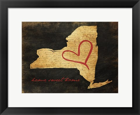Framed Home Sweet Home NY Print