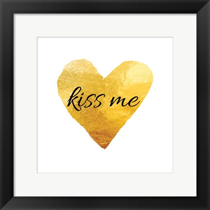 Framed Kiss Me (Square) Print