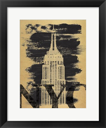 Framed NYC Paint Print