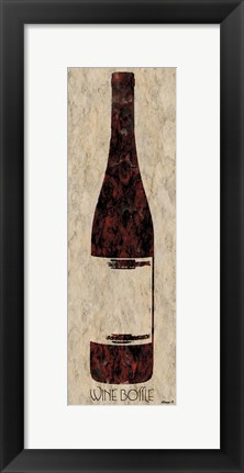 Framed Wine Bottle 5 Print