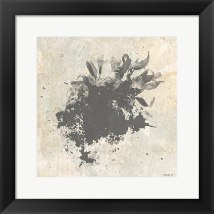 Framed Abstract Plant 3 Print