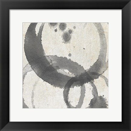Framed Square Coffee Stains 2 Print