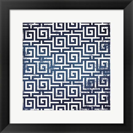 Framed Blue Keys Print