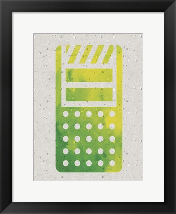 Framed Kitchen Watercolor Brights 1 Print