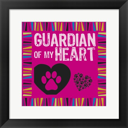 Framed Doggie Love Borders 03 Print