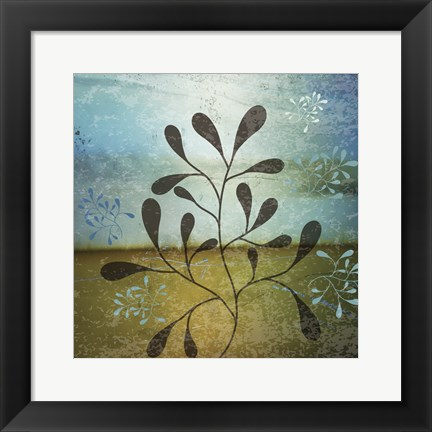 Framed Contemporary Florals 2 Print